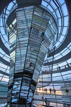 <b>Germany, Berlin</b>, The glass dome of Reichstag