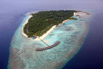 <b>Maldives, Filitheyo</b>, Aerial view of Filitheyo