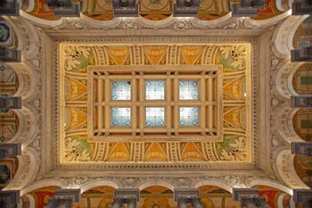 <b>USA, Washington DC</b>, Ceiling of the library of congress