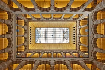 <b>Netherlands, Amsterdam</b>, Ceiling of the Magna plaza shopping center